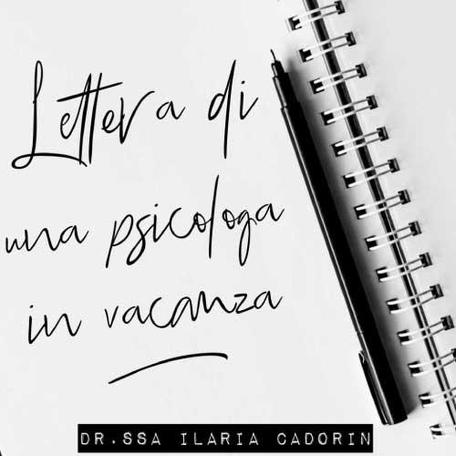 lettera psicologa vacanza